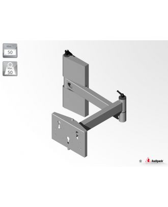 Support mural double bras pivotants 390695 Audipack