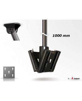 Support de plafond noir double écrans FCMD-1000B Audipack