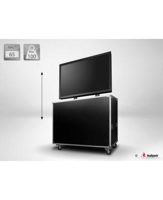 Support flight case motorisé pour écran plat FLM-5369 Audipack