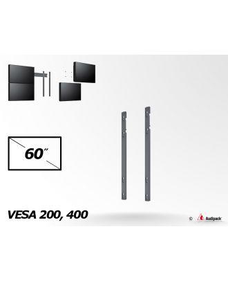 Bras de fixation double vertical MA-2-60 Audipack