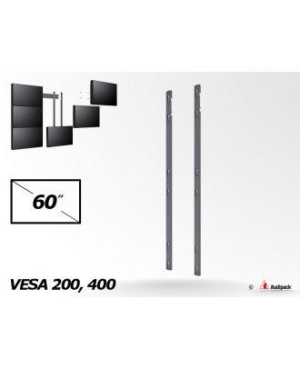 Bras de fixation triple vertical MA-3-60 Audipack
