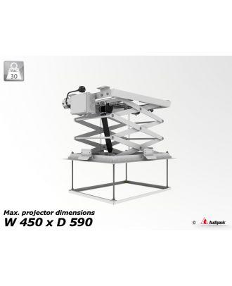 Support de plafond motorisé pour vidéoprojecteur PCL-3050-3 Audipack