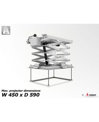 Support de plafond motorisé pour vidéoprojecteur PCL-3050-4 Audipack