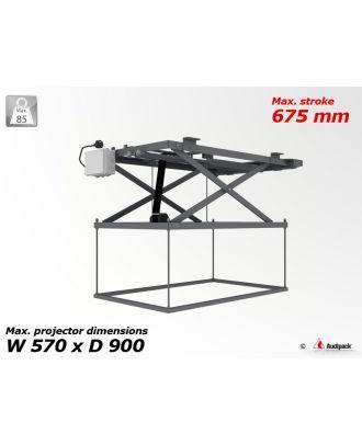 Support de plafond motorisé pour vidéoprojecteur P1982 Audipack
