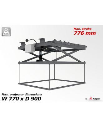 Support de plafond motorisé pour vidéoprojecteur P1983 Audipack
