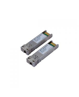 Connecteur fibre optique Simplex SFP monomode + Module Luxul 10G-SM-SX-LC