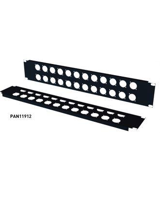 Panneau 19'' 1u 12 XLR série D noir PAN11912  S2CEB