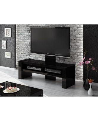 Meuble TV Hubertus DAVOS Noir High Gloss