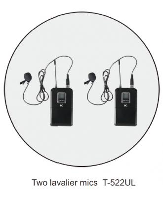 Microphone sans fil réglable 2 micros-cravates itC T-522UL
