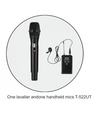 Microphone sans fil réglable 1 micro à main et 1 micro-cravate itC T-522UT