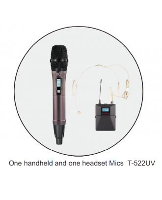 Microphone sans fil réglable 1 micro à main et 1 micro casque itC T-522UV