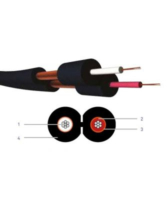 Cable asymetrique blinde noir hq DUAL22HQ