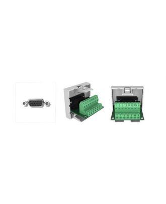 Plastron 45x45 1 embase femelle VGA à bornier AMVGACI