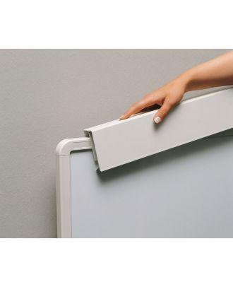 Pince de Tableau sur rail blanc pour paperboard gris blanc KIN-5008443120 Kindermann