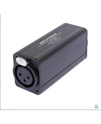 Adaptateur avec transfo XLRF/RCA blanche