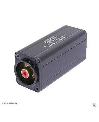 Adaptateur avec transfo XLRF/RCA rouge