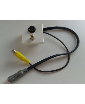 Plastron équipé de 1 S-Vidéo F / 1 RCA F  20 cm S-Vidéo F / RCA F