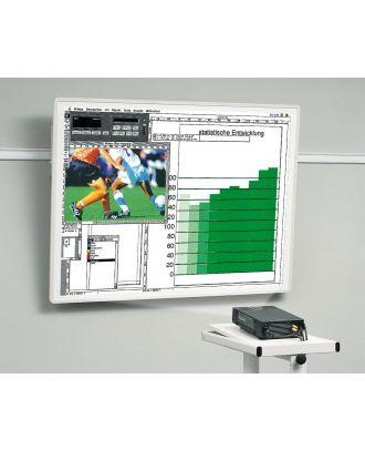 Tableau de projection inclinable 125x125 cadre blanc Kindermann 5008410056