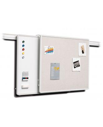 Tableau blanc 120x100 sur rail Kindermann 5008411030 - cadre aluminium