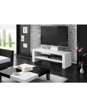 Meuble TV Hubertus DAVOS Blanc High Gloss