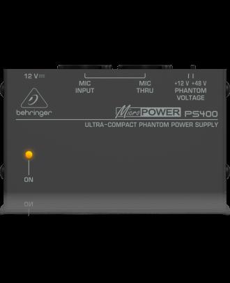 Alim phantom 12 ou 48V pour micro électrostatique Majorcom