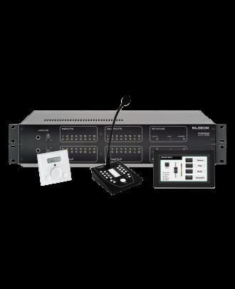 Matrice audio numérique 8 entrées/8 sorties Majorcom PXN88