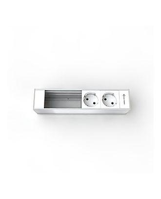 Support 4 modules pour Boîtier CablePort Flex Kindermann 7449000202