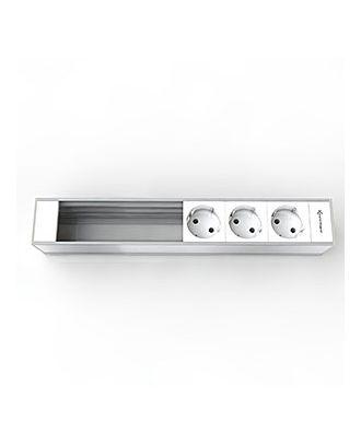 Support 6 modules pour Boîtier CablePort Flex Kindermann 7449000303
