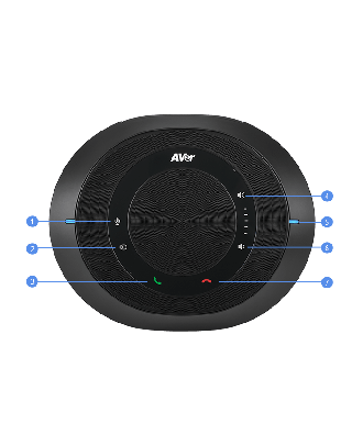 Micro Haut-parleur tout en 1 pour VC520PRO câble de 10m Noir