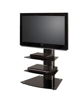 Meuble TV LCD Plasma ALLADYN 2 noir