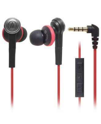 Casque noir et rouge ATH-CKS55IBRD Audio-technica intras Solid Bass