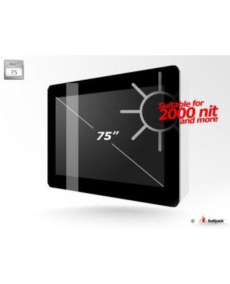 Caisson outdoor IP55 pour écran 75p haute luminosité paysage Audipack FSMO-75HBV