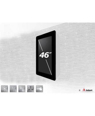 Caisson outdoor IP65 pour écran 46p haute luminosité portrait Audipack FSMO-46HBP
