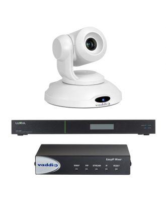 Kit EASY IP - Caméra de visio. Blanche + Mixer + Switch Vaddio