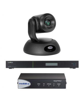 Kit EASY IP 20 Caméra de visio. Noire + Mixer + Switch Vaddio 999-30231-001