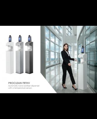 Distributeur de gel + caméra de mesure de température Blanc Edbak