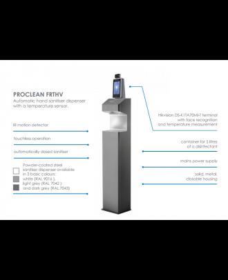 Distributeur de gel + caméra de mesure de température Noir Edbak