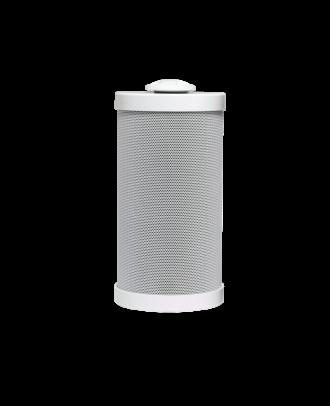 Enceinte 2V cylind. BLANCHE, 15 W / 8 Ohms, 15/10/5/2,5W/100V