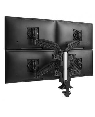 Colonne avec doubles bras pour 4 écrans 2x2Noir Chief KXC420B