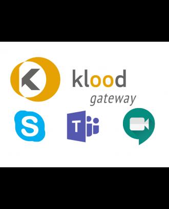 klood GATEWAY Teams / Google Meet - 10000 Gateway et plus - 1an