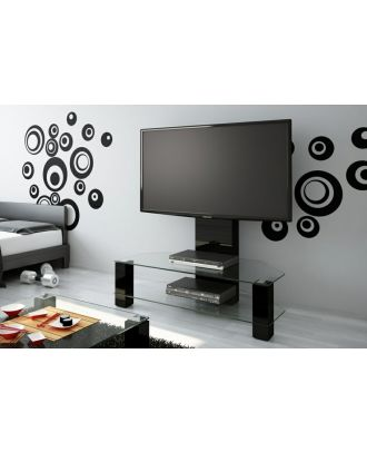 Meuble TV Hubertus LUGANO noir