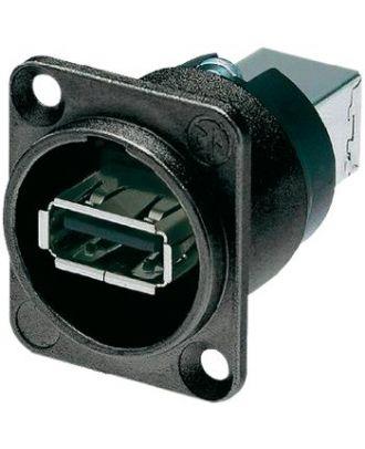 Traversée de panneau USB A-B noir
