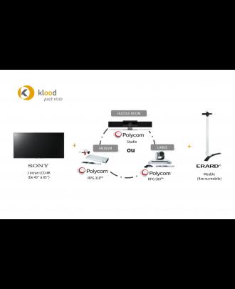 klood Pack Visio - Sony 4K 43p + Jabra Panacast + Pied mural