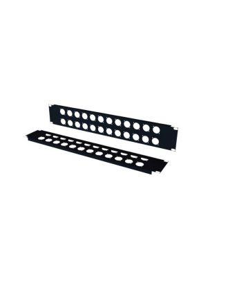 Panneau 19'' 2u 32 XLR série D noir PAN21932 S2CEB