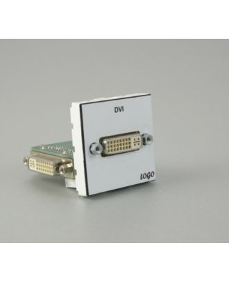 Plastron 45 + embase DVI F sur platine, raccord DVI I à 90° inclue