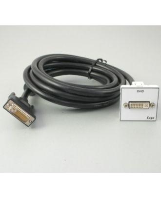 Plastron 45 + d'1 DVID câblé 3m en fiche DVID M