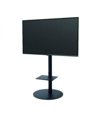 Pied rond avec tablette pour écran 32 à 47 pouces noir OMB-0.23