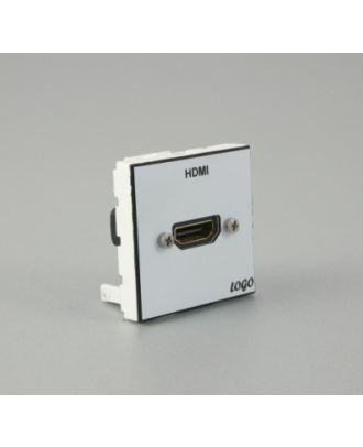 Plastron 45 + embase HDMI traversante comprise