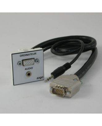 Plastron 45 HD15 F + 5C + Jack 3,5 1m vers HD15 M + Jack 3,5 M