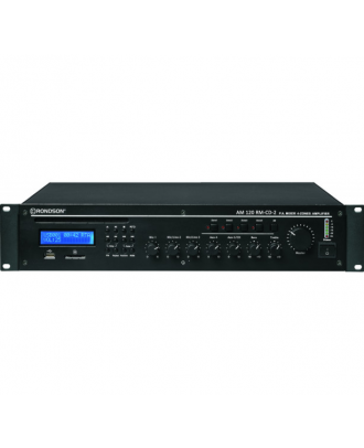 Ampli-préampli 120W, 4 zones, Tuner FM+CD/USB/SD, DC 24 V